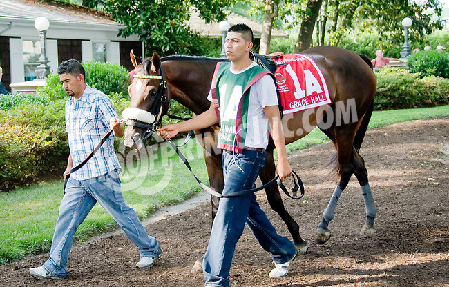 Grace Hall before The Delaware Oaks (gr 2) at Delaware Park on 7/14/12