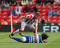 Queens Park Rangers' Eberechi Eze and Stoke City's Nathan Collins <br /> <br /> Photographer Stephen White/CameraSport<br /> <br /> The EFL Sky Bet Championship - Stoke City v Queens Park Rangers - Saturday 3rd August 2019 - bet365 Stadium - Stoke-on-Trent<br /> <br /> World Copyright © 2019 CameraSport. All rights reserved. 43 Linden Ave. Countesthorpe. Leicester. England. LE8 5PG - Tel: +44 (0) 116 277 4147 - admin@camerasport.com - www.camerasport.com