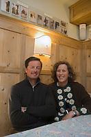 Europe/Italie/Trentin Haut-Adige/Dolomites/Val-Gardena/Selva Gardena:  Villa Franeila Salon de thé de Daniela et Herman Comploj