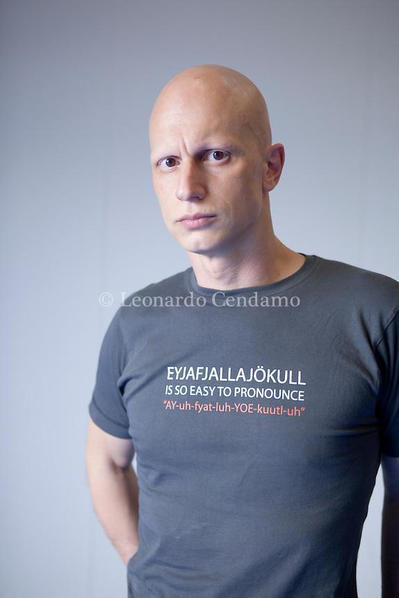Giorgio Vasta, sicilian writer, Torino, maggio 2011.  © Leonardo Cendamo