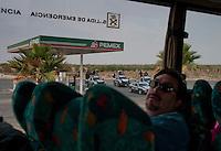 Local police escort, Salinas Hidalgo, Mexico. Aromas y Sabores with Chef Patricia Quintana