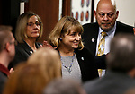 Nevada Lt. Gov. Kate Marshall enters the Assembly chambers before Gov. Steve Sisolak delivers his State of the State address to the Legislature in Carson City, Nev., on Wednesday, Jan. 16, 2019. (Cathleen Allison/Las Vegas Review-Journal)