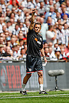 Paul Hurst (Manager) of Grimsby Town during the 2015 Vanarama Conference Promotion Final match between Grimsby Town and Bristol Rovers at Wembley Stadium, London<br /> Picture by David Horn/eXtreme aperture photography +44 7545 970036<br /> 17/05/2015