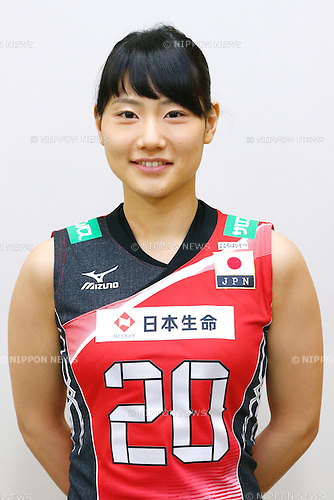 Kanami Tashiro (JPN), <br /> MAY 9, 2016 - Volleyball : Japan Volleyball Association press conference of the Rio 2016 Olympic Games Final qualifier round in Tokyo, Japan. (Photo by Sho Tamura/AFLO SPORT)