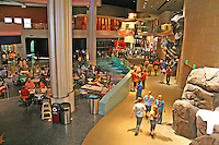 Interior people at Georgia Aquarium in Atlanta Georgia
