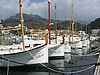 traditional mallorquean fishing boats at the harbor of Puerto de Sóller<br /> <br /> Llauts en Puerto de Sóller (Port Soller)<br /> <br /> Fischerboote in Puerto de Sóller<br /> <br /> 2272 x 1704 px<br /> 150 dpi: 38,47 x 28,85 cm<br /> 300 dpi: 19,24 x 14,43 cm