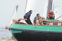 SKUTSJESILEN: LANGWEER: Langwarder Wielen, 13-04-2013, Skûtsjesilen Langwar, Arend de Boer (schipper Twee Gebroeders | Langweer), ©foto Martin de Jong