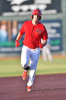 Johnson City Cardinals Chandler Redmond (25) rounds the bases after hitting a home run during game one of the Appalachian League Championship Series against the Burlington Royals at TVA Credit Union Ballpark on September 2, 2019 in Johnson City, Tennessee. The Royals defeated the Cardinals 9-2 to take the series lead 1-0. (Tony Farlow/Four Seam Images)