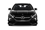 Car photography straight front view of a 2019 Mercedes Benz CLA Coupe 45 AMG 4 Door Sedan