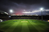 3rd December 2017, Adelaide Oval, Adelaide, Australia; The Ashes Series, Second Test, Day 2, Australia versus England; The sun sets over Adelaide Oval