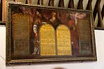 Church of Saint Andrew, Little Glemham, Suffolk, England, UK decalogue Moses, Aaron and Joshua