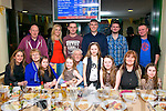 Enjoying the food and the races at Kingdom Greyhound stadium last Saturday night were (seated) l-r: Sharon,Dawn and Cara O'Sullivan, Elle O'Rahilly, Noel and Erin O'Sullivan, Claudia O'Rahilly,Sharon Cronin and Lauren O'Sullivan(back)L-R Seamus Cronin, Dawn O'Sullivan jnr, Maurice O'Rahilly, David O'Sullivan with Ross and Joe O'Sullivan.