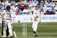 Simon Harmer in bowling action for Essex during Essex CCC vs Middlesex CCC, Specsavers County Championship Division 1 Cricket at The Cloudfm County Ground on 26th June 2017