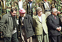 Iraq 2002.In Barzan, on march 14th, the celebration of Mustafa Barzani' s birthday. Near the grave of Mustafa Barzani, Hoshiar Zibari, Sidat Barzani, an Iranian poet and Failak Eddin.Irak 2002.A Barzan,le 14 mars, celebration de l'anniversaire de naissance de Mustafa Barzani; de gauche a droite,Hoshiar Zibari, Sidat Barzani,un poete iranien et Failak Eddin