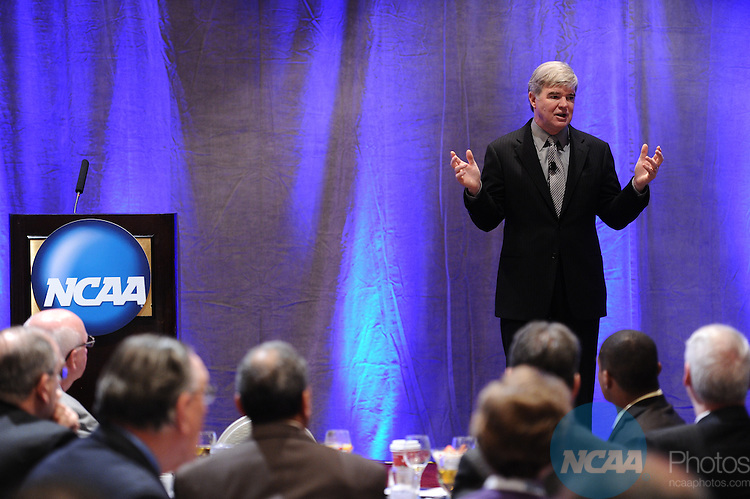 13 JAN 2012: The President's Breakfast at the 2012 NCAA Convention held at the JW Marriott and Indianapolis Convention Center in Indianapolis, IN.  Stephen Nowland/NCAA Photos.Pictured: Mark Emmert