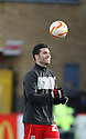 Dani Lopez of Stevenage with the match ball after his hat-trick. Stevenage v Sheffield United - npower League 1 -  Lamex Stadium, Stevenage - 16th March, 2013. © Kevin Coleman 2013.. . . .
