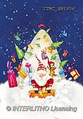 Marcello, CHRISTMAS SANTA, SNOWMAN, WEIHNACHTSMÄNNER, SCHNEEMÄNNER, PAPÁ NOEL, MUÑECOS DE NIEVE, paintings+++++,ITMCXM1956/,#X#