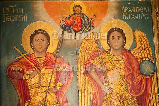 Icons inside St. Ilija Serbian Orthodox Church, Morka Gora, Serbia.
