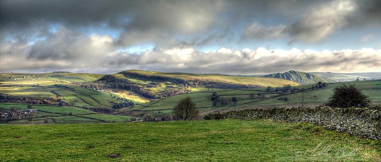 Looking across The Peak District