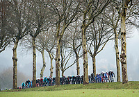 Picture by Alex Broadway/SWpix.com - 04/03/2018 - Cycling - 2018 Paris Nice - Stage One - Chatou to Meudon  - The peloton rides through the French countryside.<br /> <br /> NOTE : FOR EDITORIAL USE ONLY. THIS IS A COPYRIGHT PICTURE OF ASO. A MANDATORY CREDIT IS REQUIRED WHEN USED WITH NO EXCEPTIONS to ASO/Alex Broadway MANDATORY CREDIT/BYLINE : ALEX BROADWAY/ASO