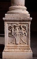 Italien, Lombardei, Detail am Palazzo Fodri in Cremona