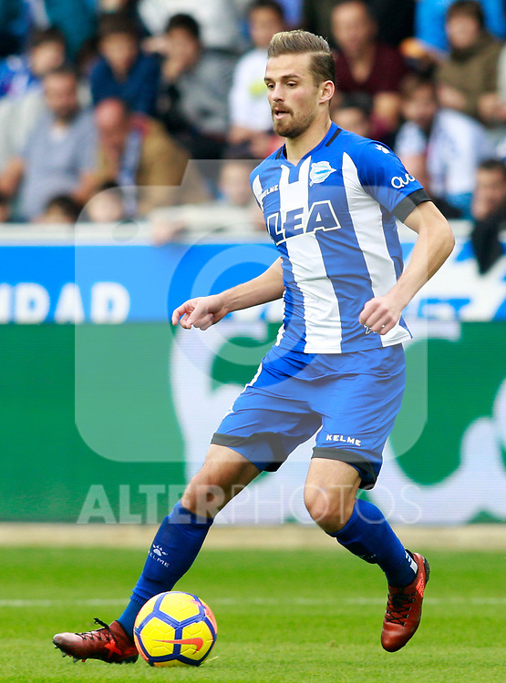 Deportivo Alaves' Christian Santos during La Liga match. October 28,2017. (ALTERPHOTOS/Acero)
