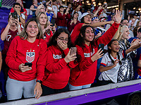 ORLANDO, FL - MARCH 05: Fans cheer during a game between England and USWNT at Exploria Stadium on March 05, 2020 in Orlando, Florida.