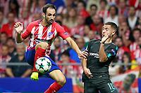 Atletico de Madrid's Juanfran Torres (l) and Chelsea FC's Eden Hazard during Champions League 2017/2018, Group C, match 2. September 27,2017. (ALTERPHOTOS/Acero)<br /> Champions League 2017/2018 <br /> Atletico Madrid - Chelsea <br /> Foto Alterphotos / Insidefoto
