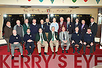 Outgoing Kerry captain Mick Coote handed over the captaincy to Martin O'Donoghue Castleisland at the Kerry Captain's AGM in the Killarney Golf and Fishing club on Monday evening front row l-r: Sean Turner Castleisland, Denis Donovan incoming Secretary, Martin O'Donoghue incoming Captain, Mick Coote outgoing captain, James Ormond Killarney, James O'Loughlin Outgoing Secretary, Ger O'Connor outgoing Treasurer. Back row: Tim Kenny Ballyheigue, Donal O'Reilly Castlerosse, David Farrell Waterville, Cyril Murphy Kenmare, Eamon McGillicuddy Scellig Bay, Tom O'Driscoll Ring of Kerry, Seamus Cronin Castlegregory, Michael Barry Ballybunion, Joe McCarthy Tralee, Joe Kennedy Killorglin, James Conway Ardfert and Michael O'Shea Ross Castle