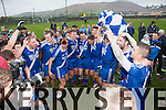 St Mary's players celebrate after the final of the South Kerry Final in Cahersiveen on Saturday after defeating Waterville 0-14 to 07.