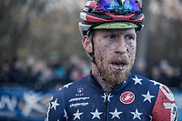 Stephen Hyde (USA/Cannondale-Cyclocrossworld.com), US National Champion, post race<br /> <br /> men's elite race<br /> Flandriencross Hamme / Belgium 2017