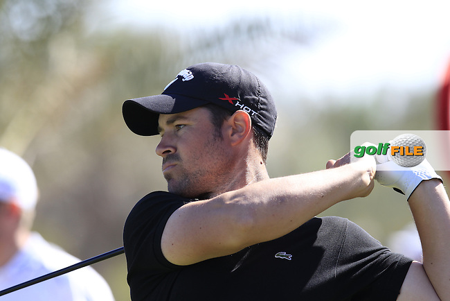 Jean-Babtiste Gonnet (FRA) tees off the 18th tee during Friday's Round 2 of the Abu Dhabi HSBC Golf Championship at Abu Dhabi Golf Club, 18th January 2013 (Photo Eoin Clarke/www.golffile.ie)