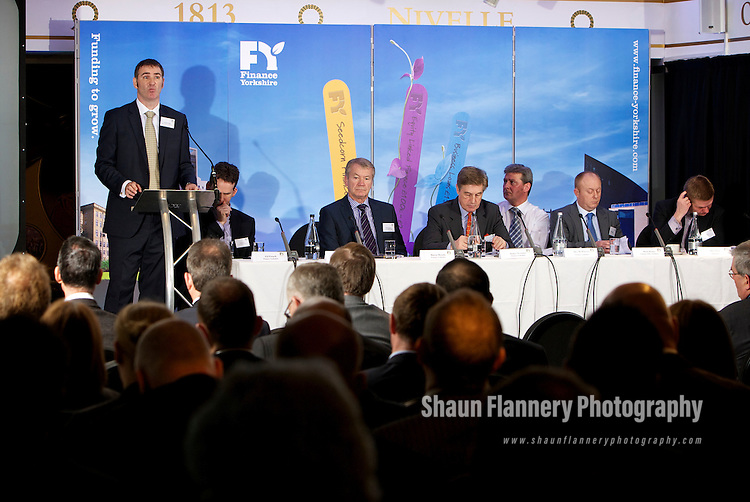 Pix: Shaun Flannery/shaunflanneryphotography.com...COPYRIGHT PICTURE>>SHAUN FLANNERY>01302-570814>>07778315553>>..15th March 2012..Finance Yorkshire Roadshows 2012..The Royal Armouries, Leeds..Jonathan Craig of Finance Yorkshire.