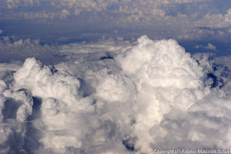 Cloud formations, Brazil, taken from aircraft