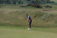 Gary O'Flaherty (Cork) on the 11th green during Round 4 of the East of Ireland Amateur Open Championship 2018 at Co. Louth Golf Club, Baltray, Co. Louth on Monday 4th June 2018.<br /> Picture:  Thos Caffrey / Golffile<br /> <br /> All photo usage must carry mandatory copyright credit (&copy; Golffile | Thos Caffrey)