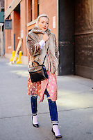 Kate Foley attends Day 2 of New York Fashion Week on Feb 13, 2015 (Photo by Hunter Abrams/Guest of a Guest)