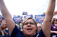 Hillary Clinton, U.S. senator from New York and 2008 Democratic presidential candidate, speaks at a campaign rally in Ft. Worth, Texas, U.S., on Saturday, March 1, 2008. Voters in Texas go to the polls on Tuesday, March 4, to vote in the Democratic presidential primary. ..