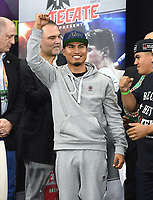 DALLAS, TX - MARCH 15: Mikey Garcia attends the weigh-in for his fight against Errol Spence Jr. at the Fox Sports PBC Pay-Per_View World Welterweight Championship fight at AT&T Stadium on March 15, 2019 in Dallas, Texas. The fight is on March 16 at 9PM ET/6PM PT. (Photo by Frank Micelotta/Fox Sports/PictureGroup)