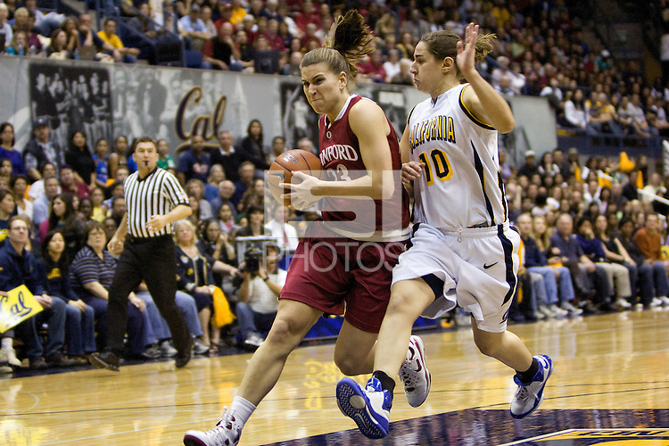 BERKELEY, CA - JANUARY 18:  Jeanette Pohlen of the Stanford Cardinal during Stanford's 57-54 loss to the California Golden Bears on January 18, 2009 at Haas Pavilion in Berkeley, California.
