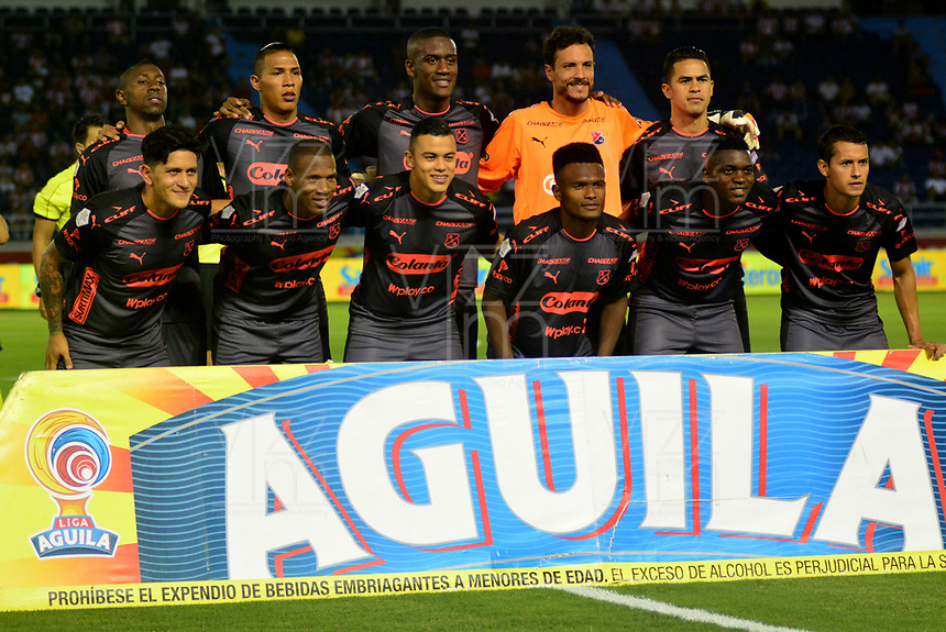 BARRANQUILLA - COLOMBIA, 25-08-2018: Los jugadores de Deportivo Independiente Medellín posan para una foto, antes de partido de la fecha 6 entre Atlético Junior y Deportivo Independiente Medellín por la Liga Aguila II 2018, jugado en el estadio Metropolitano Roberto Meléndez de la ciudad de Barranquilla. /  The players of Deportivo Independiente Medellin pose for a photo, prior a match of the of the 6th date between Atletico Junior and Deportivo Independiente Medellin for the Liga Aguila II 2018 at the Metropolitano Roberto Melendez stadium in Barranquilla city, Photo: VizzorImage  / Alfonso Cervantes / Cont.