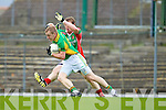 Ronan Hussey South Kerry v Chris O'Leary Kilcummin in the Quarter finals of the Kerry Senior County Championship on Sunday at Fitxgerald Stadium, Killarney.