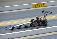 Apr. 14, 2012; Concord, NC, USA: NHRA top alcohol dragster driver Rich McPhillips during qualifying for the Four Wide Nationals at zMax Dragway. Mandatory Credit: Mark J. Rebilas-