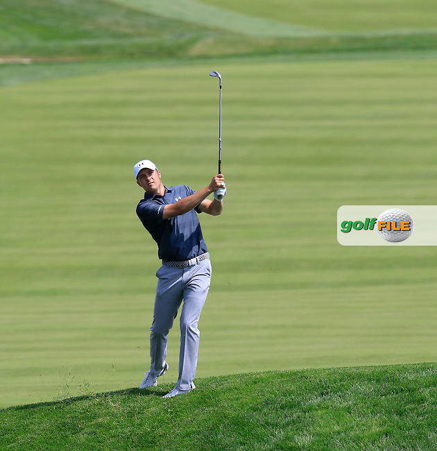 Jordan Spieth (USA) on the 18th hole during Wednesday's Practice Day of the 2016 U.S. Open Championship held at Oakmont Country Club, Oakmont, Pittsburgh, Pennsylvania, United States of America. 15th June 2016.<br /> Picture: Eoin Clarke | Golffile<br /> <br /> <br /> All photos usage must carry mandatory copyright credit (&copy; Golffile | Eoin Clarke)