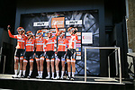 Boels Dolmans Cycling Team at sign on before La Fleche Wallonne Femmes 2018 running 118.5km from Huy to Huy, Belgium. 18/04/2018.<br /> Picture: ASO/Thomas Maheux | Cyclefile.<br /> <br /> All photos usage must carry mandatory copyright credit (© Cyclefile | ASO/Thomas Maheux)