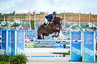 AUS-Shane Rose rides Virgil during the Showjumping for the FEI World Team and Individual Eventing Championship. 2018 FEI World Equestrian Games Tryon. Monday 17 September. Copyright Photo: Libby Law Photography