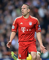 FUSSBALL   CHAMPIONS LEAGUE SAISON 2011/2012  HALBFINALE  RUECKSPIEL      Real Madrid - FC Bayern Muenchen           25.04.2012 Franck Ribery (FC Bayern Muenchen) ist enttaeuscht
