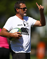 Robert du Preez (Head Coach) of the Cell C Sharks during The Cell C Sharks training session at Jonsson Kings Park Stadium in Durban, South Africa. 18th January 2019 (Photo by Steve Haag)