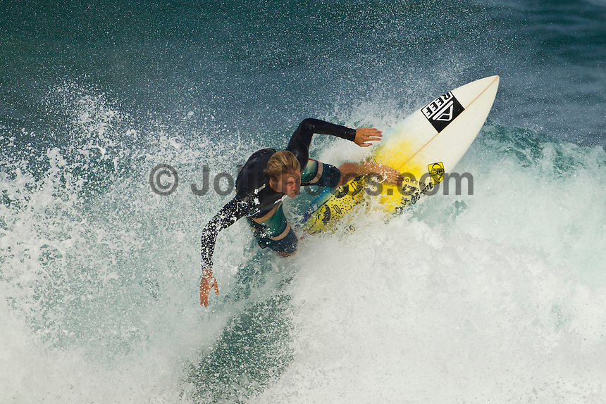 North Shore/Oahu/Hawaii (Friday, November 25, 2011)  Austin Ware (USA). – Free surfing session at Rocky Point in 3'-4' side shore trades. . Photo: joliphotos.com