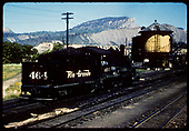 D&amp;RGW #464 K-27 approaching tank in Durango yard.<br /> D&amp;RGW  Durango, CO