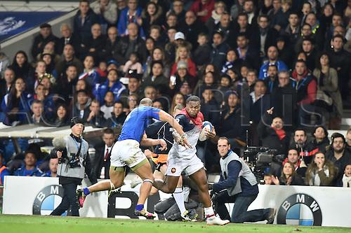 12.11.2016. Stadium Toulouse, Toulouse, France. Autumn International rugby match, France versus Samoa.  Virmi Vakatawa (fr)